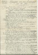 MILITARIA - GUERRE 1914- 18 - 281e Régiment D'infanterie CONSIGNE EN CAS D ATTAQUE PAR LES GAZ( 2 Pages ) - Documenten