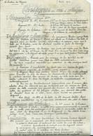 MILITARIA - GUERRE 1914- 18 - 281e Régiment D'infanterie CONSIGNES EN CAS D4ATTAQUE Du 7 Août 1916 (2 Pages ) - Documenten