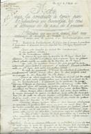 MILITARIA - GUERRE 1914- 18 - 281e Régiment D'infanterie NOTE Sur La Conduite à Tenir En Cas D'attaque 7 Août  (2 Pages) - Documenten