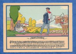CPSM Série Chansons En Patois  Folklore PAYS BASQUE NERE ETCHEA Illustrateur Jack Barré Et Dayez 10/15 Cm - Unclassified