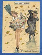 """CPSM Série Les Gros Mots Illustrateur Jean PARIS """" BON DIEU DE BON DIEU Pin Up Bas Porte Jar Barré Dayez 1948-1 - 1352 D - Zonder Classificatie"""
