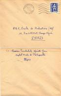 ALGERIE PHILIPPEVILLE CONSTANTINE OMec SECAP FD 5.L.O. M De 11-3-1954 – Envoi De Chasseur Parachutiste HOPITAL MIXTE - Storia Postale