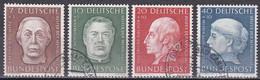 Bund 1954 - Mi.Nr. 200 - 203 - Gestempelt Used - Usati