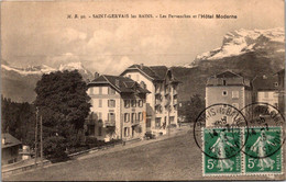 74 - SAINT GERVAIS Les BAINS --  Les Pervenches Et L'Hôtel Moderne - Saint-Gervais-les-Bains