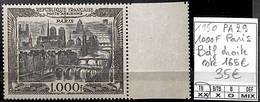 [847480]TB//**/Mnh-c:165e-France 1950 - PA29, 1000F Paris, Bdf Droite - 1927-1959 Nuovi