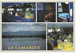 CARTE POSTALE ORIGINALE 10CM/15CM MULTIVUES COULEUR : BATEAU CAMARGUE CONSTRUCTION 94/95 ALSACE CROISIERES (67) - Sonstige
