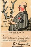 161G.....C'est Bien Les Miennes. CONVOCATION.Mr Est Prié De Passer Au Bureau Des Objets Trouvés - Humour