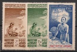 Océanie - 1942 - Poste Aérienne  PA N°Yv. 4 à 6 - PEIQI - Neuf Luxe ** / MNH / Postfrisch - Luftpost
