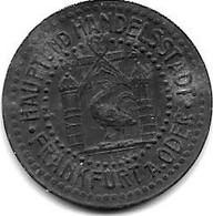 *notgeld  Frankfurt A  D Oder  10 Pfennig 1917   Zn   137.2c - Other