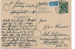BRD 1951   OCCUPATION ALLIEE MI 128 + NOTOPFER BERLIN ENTIER POSTAL - American/British Zone