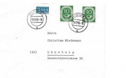 BRD 1951   OCCUPATION ALLIEE   2 X MI 128 + NOTOPFER BERLIN ENTIER POSTAL - American/British Zone