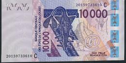 W.A.S. BURKINA FASO P318Ct 10.000  Or 10000 FRANCS (20)20 2020 Signature 44 UNC. - Burkina Faso