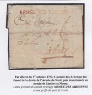 """1 Précurseur """"ARMEE DES ARDENNES"""". Regardez Les Scans Tout Est Indiqué. - 1701-1800: Precursors XVIII"""