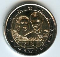 Luxembourg 2 Euro 2021 40 Ans De Mariage Du Grand-Duc Henri Et De Maria-Theresa Relief UNC - Luxembourg