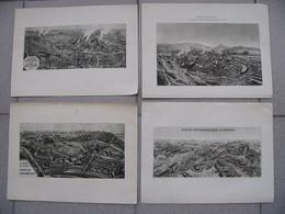 ACIERIES De LONGWY Lot 4 Illustrations Cités Gouraincourt Longlaville Tucquegnieux Usines Mont Saint Martin 1930 - Unclassified