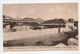 - CPA CABO VERDE (CAP VERT) - ESTACAO TELEGRAPHICA S. VICENTE 1905 - Auty Series 4054 - - Cap Verde