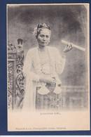 CPA Myanmar (Burma) Burmese Femme Woman Type Ethnic écrite - Myanmar (Burma)