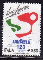 ITALIA REPUBBLICA ITALY REPUBLIC 2015 LE ECCELLENZE DEL SISTEMA PRODUTTIVO ED ECONOMICO CAFFE LAVAZZA € 0,80 USATO USED - 2011-...: Oblitérés