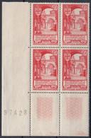 1952 FRANCE N** 926 MNH Bloc De 4 - Nuevos