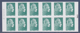 Marianne L'Engagée Carnet Lettre Verte X12 à Droite 063 Et Numéro à Gauche 8732038 Rendez Vous Philatélique 17-19 Juin - Usage Courant