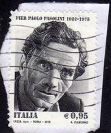 ITALIA REPUBBLICA ITALY REPUBLIC 2015 PIER PAOLO PASOLINI € 0,95 USATO USED OBLITERE' - 2011-...: Oblitérés
