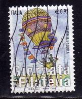 ITALIA REPUBBLICA ITALY REPUBLIC 2015 GIORNATA DELLA FILATELIA E SCUOLA MONGOLFIERA € 0,95 USATO USED OBLITERE' - 2011-...: Oblitérés