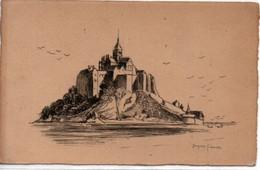 Le Mont Saint-Michel-dessin Plume ?Jacques SIMON - Le Mont Saint Michel