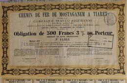 Chemin De Fer De Mostaganem à Tiaret - 1885 - ALGÉRIE - Railway & Tramway