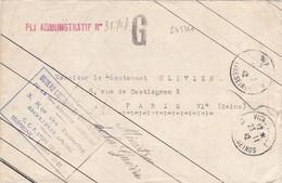24536# LETTRE MINISTRE DE LA GUERRE PLI ADMINISTRATIF G Ob VICHY ALLIER CONTRESEINGS 1942 BUREAU COURRIER OFFICIEL PARIS - WW II