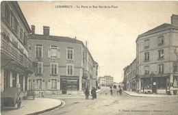 Commercy  Poste Et Rue Bas De La Place - Commercy