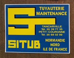 AUTOCOLLANT STICKER - SITUB - TUYAUTERIE MAINTENANCE TANCARVILLE PETIT-COURONNE NORMANDIE NORD ILE DE FRANCE - Stickers