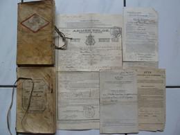 Militaria Lot Livret Mobilisation 1891 L.Bouillon Soldat Armée Belge Lanciers Régiment Du Train  Gérouville (Meix) - Historische Documenten