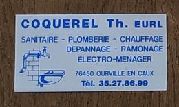 AUTOCOLLANT STICKER - COQUEREL TH. EURL - SANITAIRE PLOMBERIE CHAUFFAGE RAMONAGE ELCTRO-MÉNAGER 76450 OURVILLE EN CAUX - Stickers