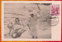 CM-Carte Maximum Card #Espagne, Espana,Spain -1957 # Bienfaisance,Charity # Tableau,Gemälde,painting By Joaquin Sorolla - Maximumkarten