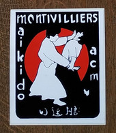 AUTOCOLLANT STICKER - MONTIVILLIERS - AIKIDO ACM - ARTS MARTIAUX - SPORT - CLUB SPORTIF - Stickers