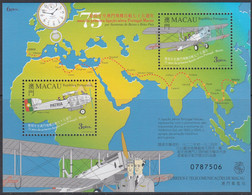 Macau 1999 - 75th Anniv. Of Sarmento De Beires And Brito Pais's Portugal-Macao Flight - Miniature Sh Mi Block 65 ** MNH - Blocs-feuillets