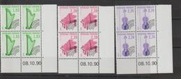 France 1990 Coin Daté Instruments De Musique Préo 210-212 ** MNH - 1990-1999