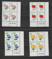 France 1998 Coin Daté Fleurs Préo 240-243 ** MNH - 1990-1999