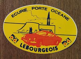 AUTOCOLLANT STICKER - ECURIE PORTE OCÉANE LEBOURGEOIS -AD AUTODISTRIBUTION - VOITURE  AUTOMOBILE - Stickers
