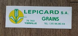 AUTOCOLLANT STICKER - LEPICARD S.A. GRAINS 76760 YERVILLE - AGRICULTURE - CÉRÉALES - Stickers