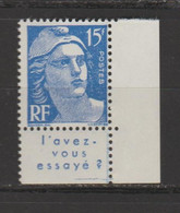 3e Série Marianne De Gandon Type II - 1945-54 Marianne De Gandon