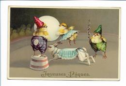 XX11858/ Ostern Küken Zirkus   Litho Glanz AK 1910 - Pasen