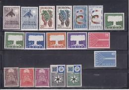 CEPT  Postfrisse EUROPA-zegels - Volledig Jaar 1957 - 1957