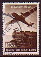 BULGARIA - 1940  - Timbre Courant - Avion - 10Lv  Yv 23 (O) - Used Stamps