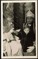 Photo Visite à St Nicolas Et Père Fouettard - Jeune Garçon - Sinterklaas - Sint Niklaas - Zwarte Piet - Voir Scan - Persone Anonimi