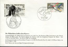 Germany Vatican Special Cover - Kosovo Help 1999 - Rifugiati