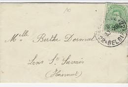 Visitekaartje  Met OCB 137 - Noodstempel BELGIQUE * BELGIE * 22 Met Boodschap Aan De Binnenkant - Fortune (1919)