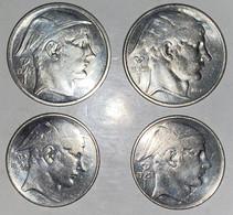 Belgique : 4 Pièces Argent Silver 40g - 50 Fr (1945 & 1950) + 20 FR (1950) - Very Good State - 05. 50 Francos