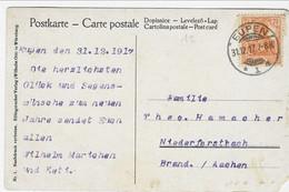 Fantasiekaart Met  7,5pf Germania - Afstempeling EUPEN 1 (1917) - Ohne Zuordnung