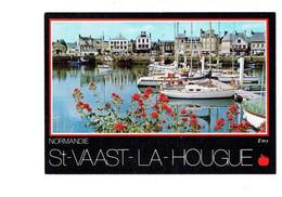 Cpm - 50 - SAINT VAAST LA HOUGUE - Bassin De Plaisance - Bateau  - Illustration Pomme - Emy 11675 Le Goubey - - Saint Vaast La Hougue